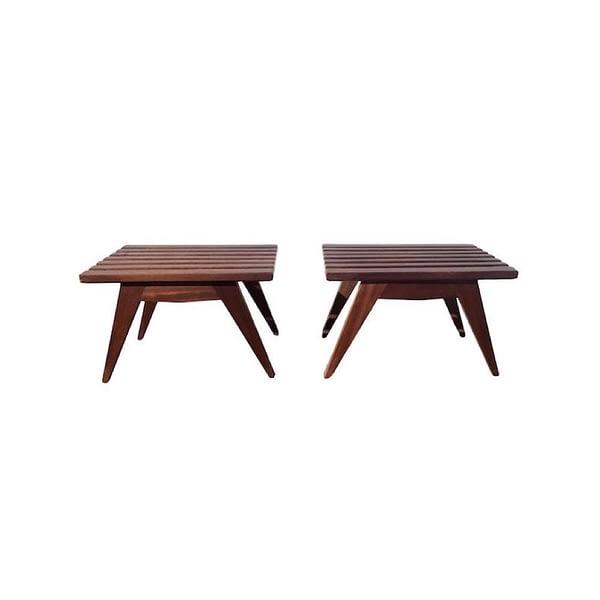 Tables de Chevets Reconstruction en Acajou, 1950s